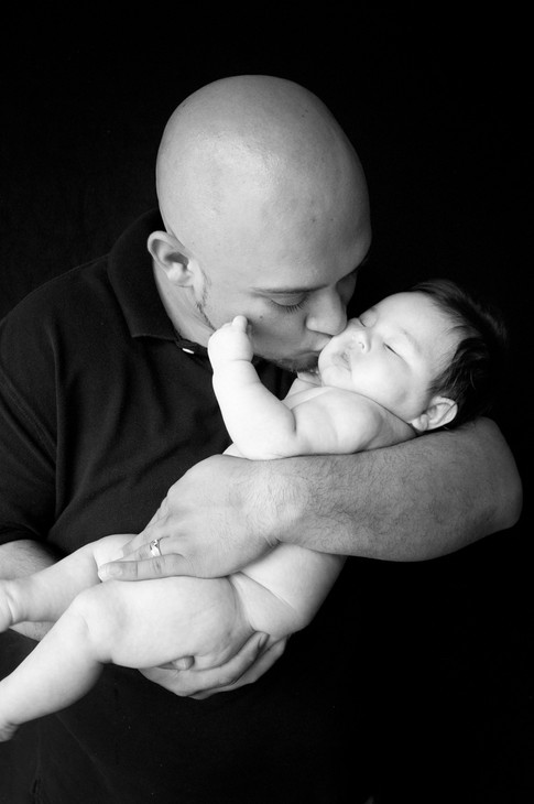Father and baby portrait