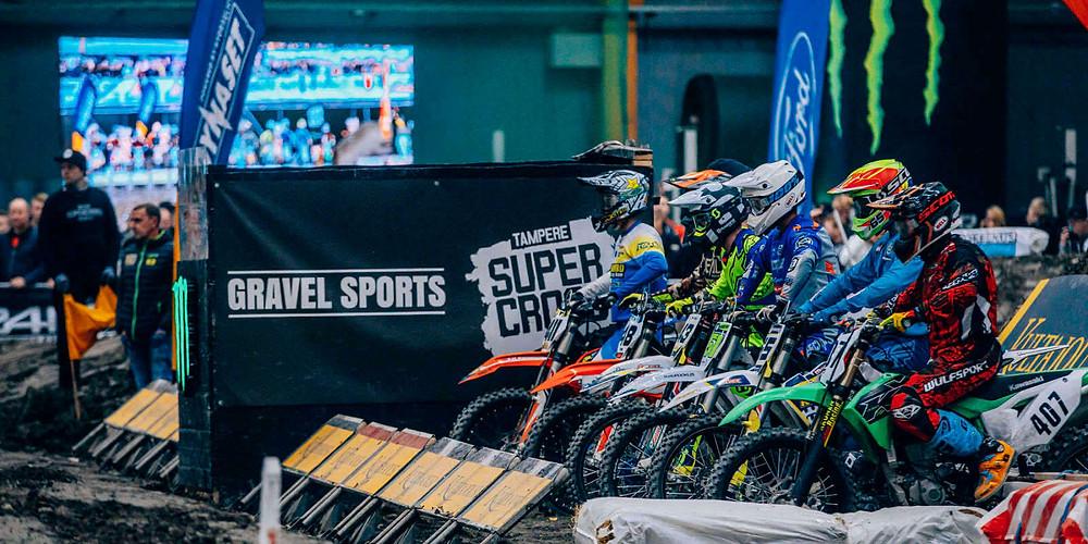 Loppuunmyydyn Tampere Supercross tapahtuman tuotti jälleen Gravel Sports Oy