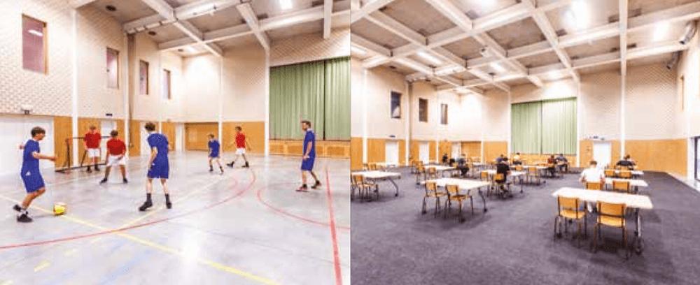 Liikuntatilojen arat lattiapinnat nopeasti oppilaskäyttöön