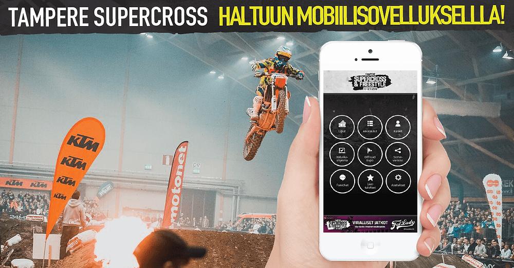 Mobiilisovellus Tampere Supercross -tapahtumalle