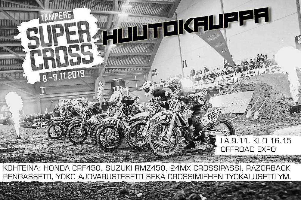 Tampere Supercross -huutokauppa lauantaina klo 16.15 alkaen