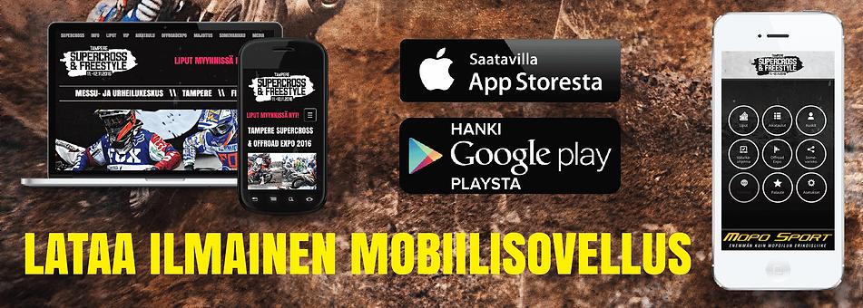 Lataa ilmainen Tampere Supercross mobiilisovellus
