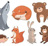 133595772-cute-forest-animals-vector-set