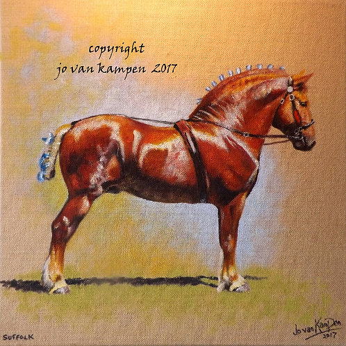 Suffolk Punch, original painting.