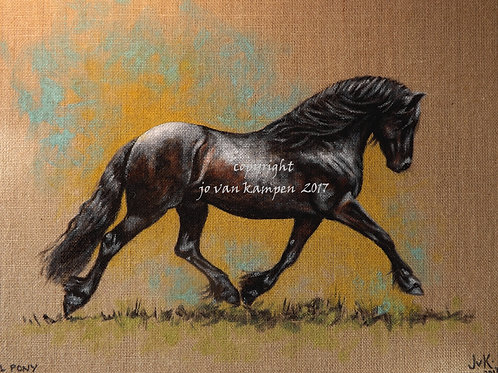 Fell pony, original painting. NEW!
