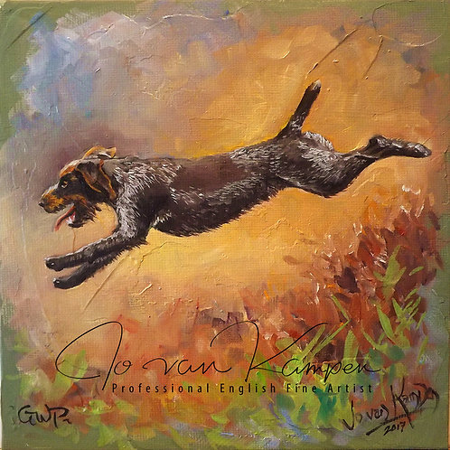 "Study of a GWP, 6"" original oil."