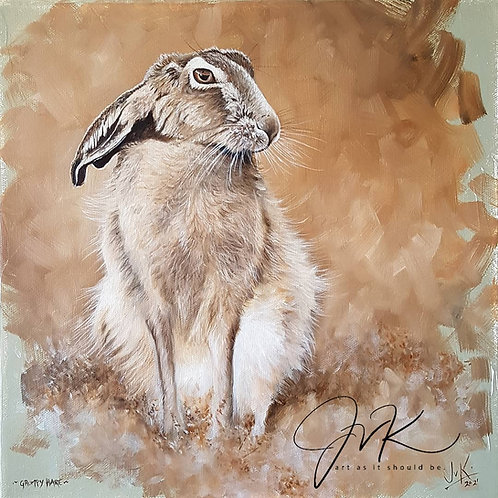 Grumpy hare, 3 colour