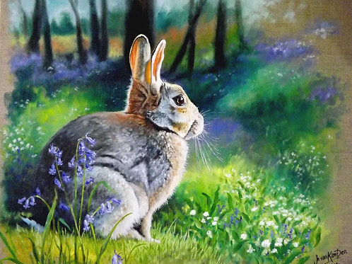 "Bluebell Bunny.. ""Be Brave Little Rabbit""!"