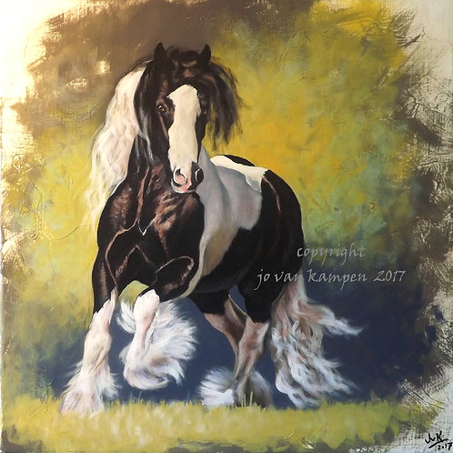 """Majestic"", gypsy cob. Original painting."