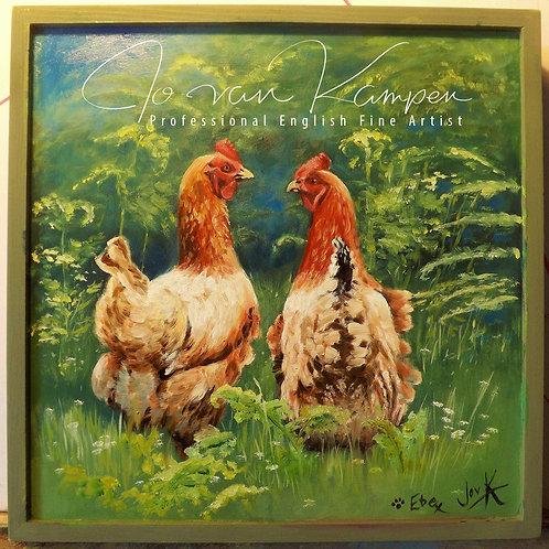 """""""Morning Gossip"""" Hens."""