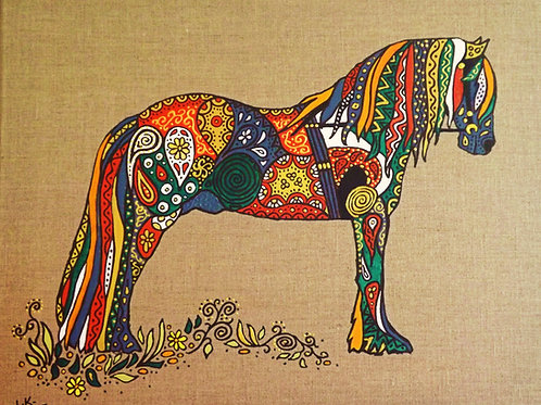 """Fantastical Painted Pony""! Original Painting."