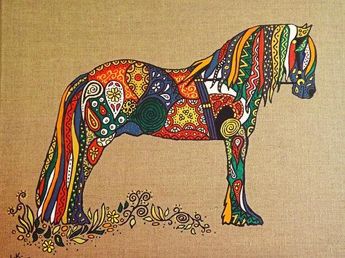 """Fantastical Painted Pony""! Print."