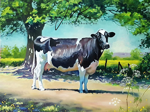 'Joanna' .. study of a Holstein.
