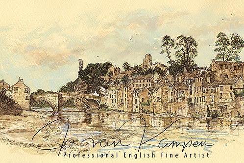 Barnard Castle,Thorngate Mills & River Tees.