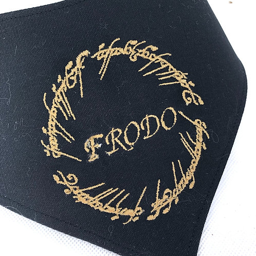 Embroidered Lord of the Rings Dog Bandana