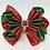 Thumbnail: Christmas Fluted Kanzashi Satin Bow Tie