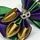 Thumbnail: Mardi Gras Kanzashi Satin Dog Bow Tie