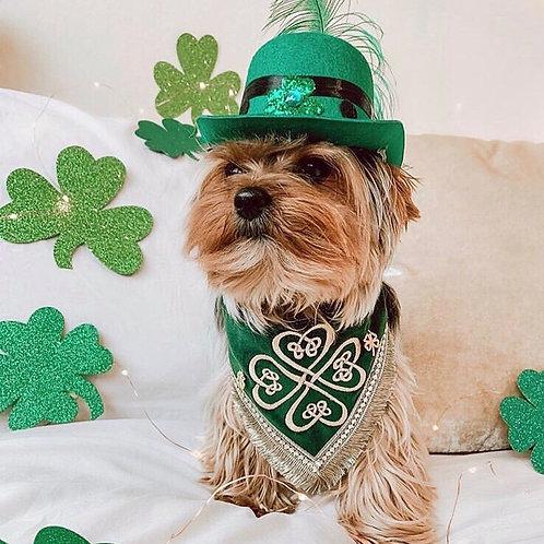 St.Patrick's Day Embroidered Dog Bandana