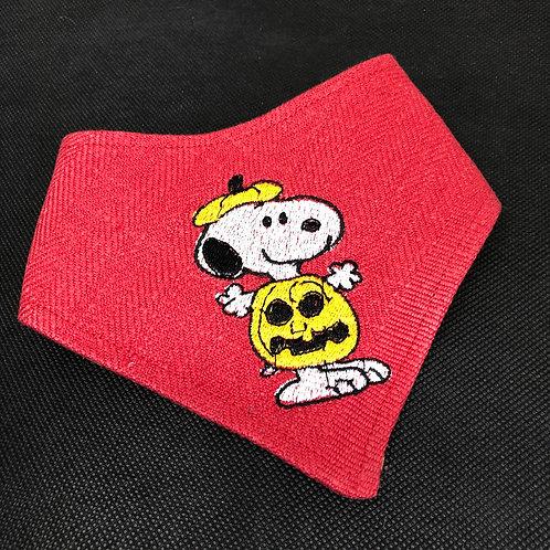 Embroidered Snoopy Halloween Dog Bandana