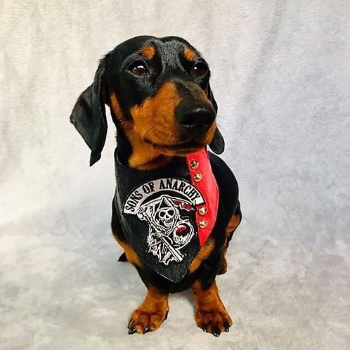 Sons of Anarchy Red n' Black Dog Bandana