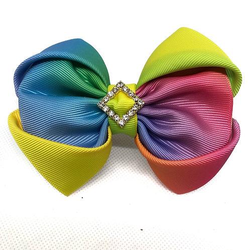 Rainbow Pride Kanzashi Bow Tie
