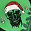 Thumbnail: Santa Skull Christmas Dog Bandana