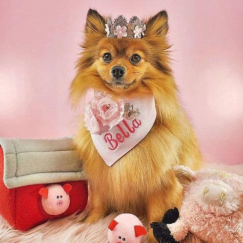 Personalised Flower Dog Bandana