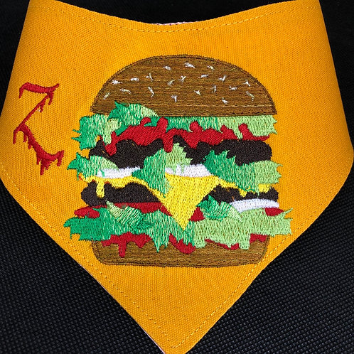 Cheeseburger Dog Bandana