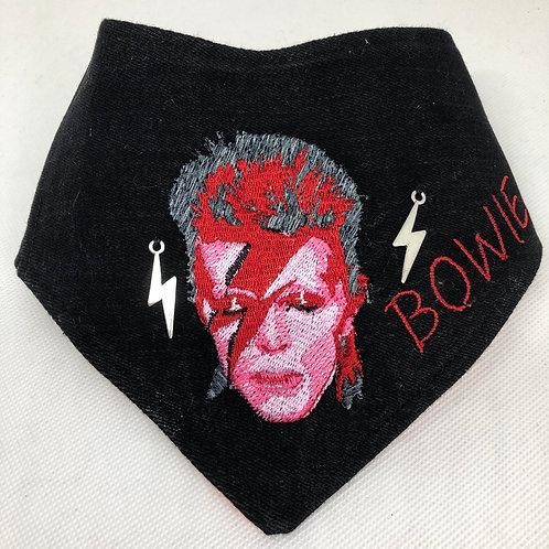 David Bowie Embroidered Dog Bandana