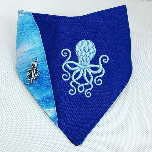 Octopus Embroidered Dog Bandana