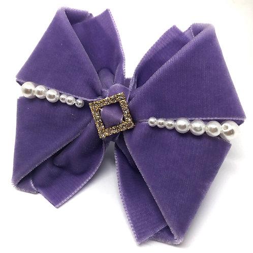 Velvet n' Pearls Kanzashi Bow Tie