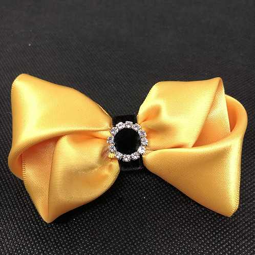 Busy Bee Kanzashi Bow Tie