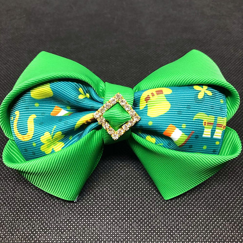St Patrick's Day Dog Bow Tie