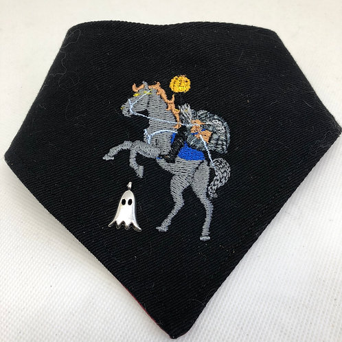 Embroidered Headless Horseman Dog Bandana