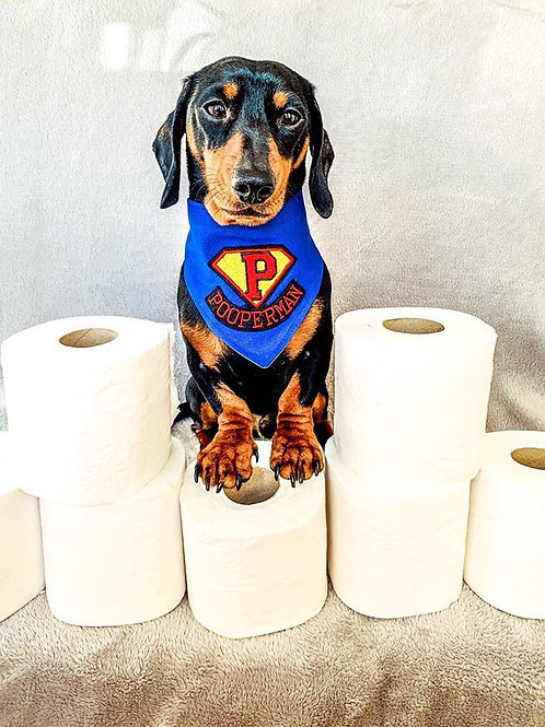 Pooperman Dog Bandana