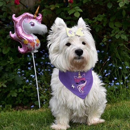 Unicorn Embroidered Dog Bandana