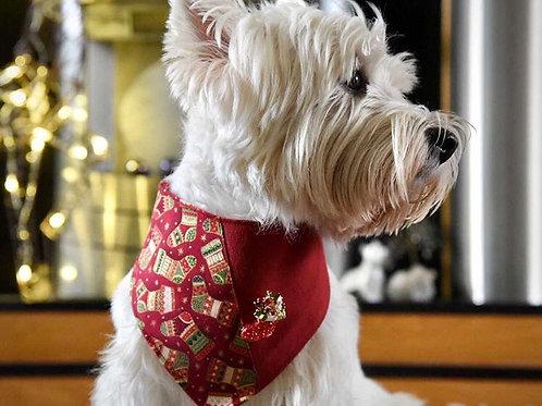 Christmas Stocking Dog Bandana