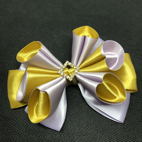 Fluted Satin Bow Tie