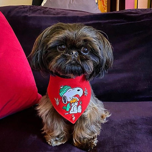 Snoopy Christmas Dog Bandana