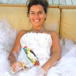 la mariée heureuse