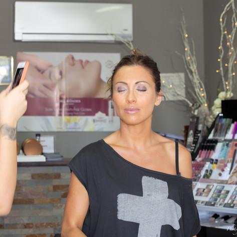 Préparatifs maquillage