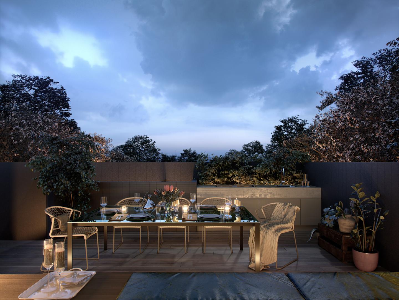 Rooftop Terrace Evening