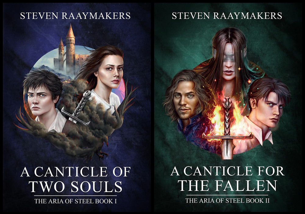 A Canticle of Two Souls and A Canticle of the Fallen book covers