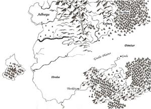An early fantasy map for The Rarkyn's Familiar