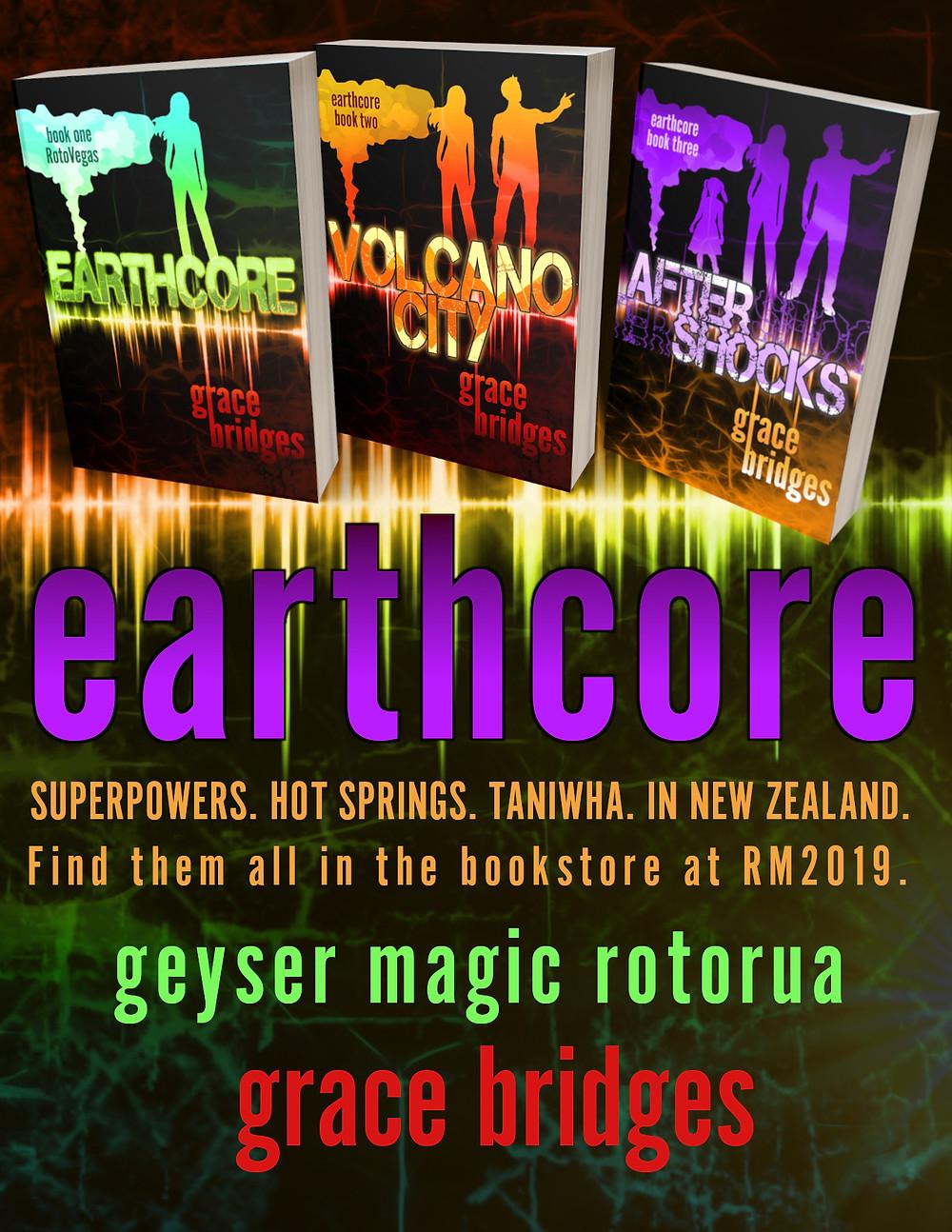 Earthcore trilogy covers by Grace Bridges