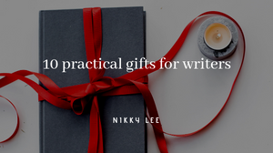 A wrapped book being gifted to a writer