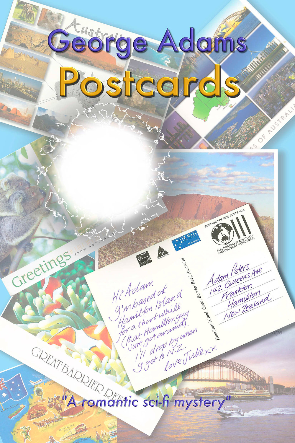 Postcards by George Adams book cover