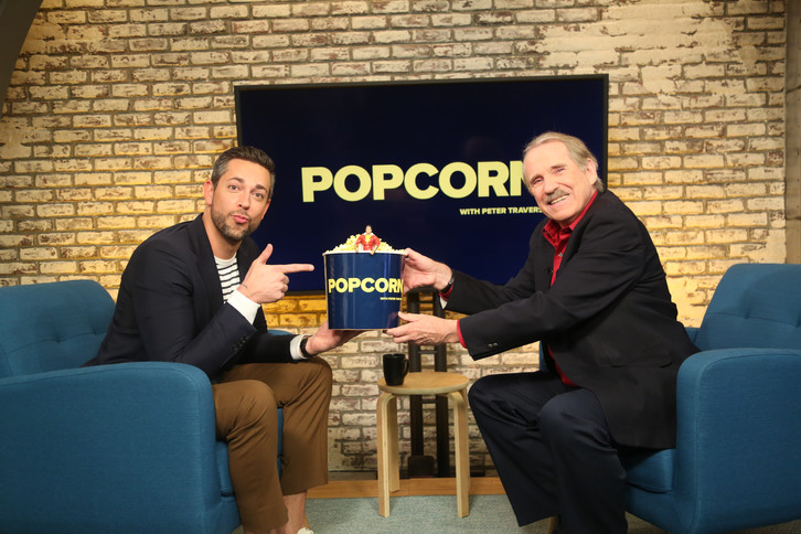 """Zachary Levi appears on """"Popcorn With Peter Travers"""" and talks about the making of """"Shazam!"""" (James Okungu/ABC News)"""