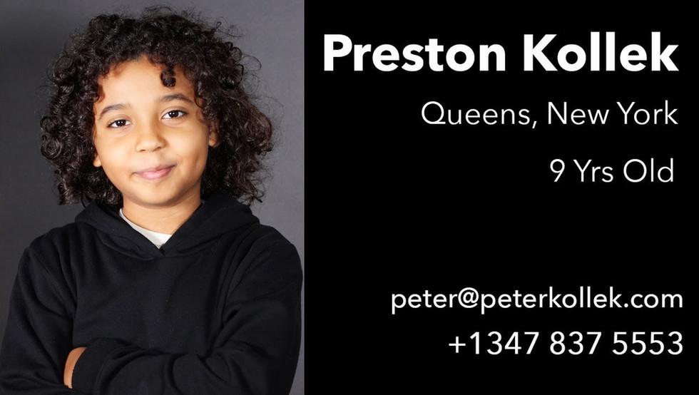 Model, actor and aspiring YouTuber Preston Kollek is happy to collaborate on projects.