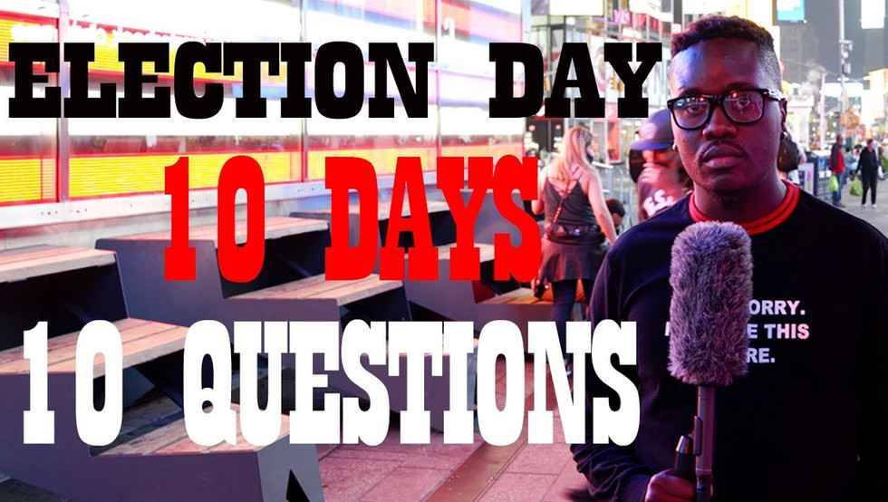 People react to questions on hot topic questions, 10 days to Election Day.  How would you answer these questions?